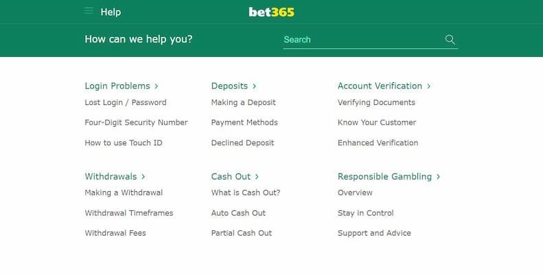 Bet365 Customer Support