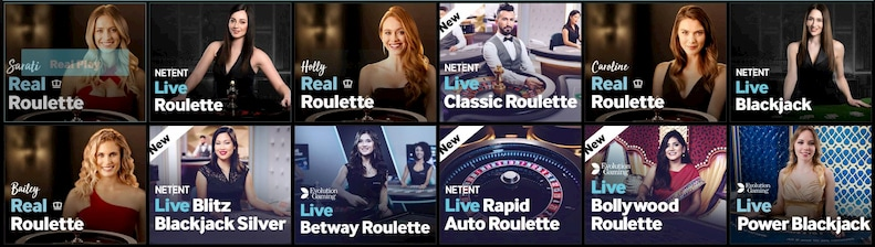 Betway Live Casino Games