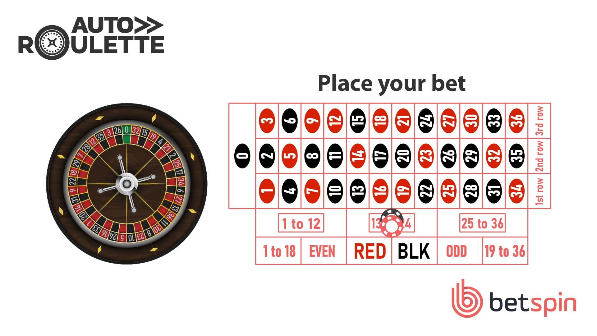 Auto Roulette Step 2