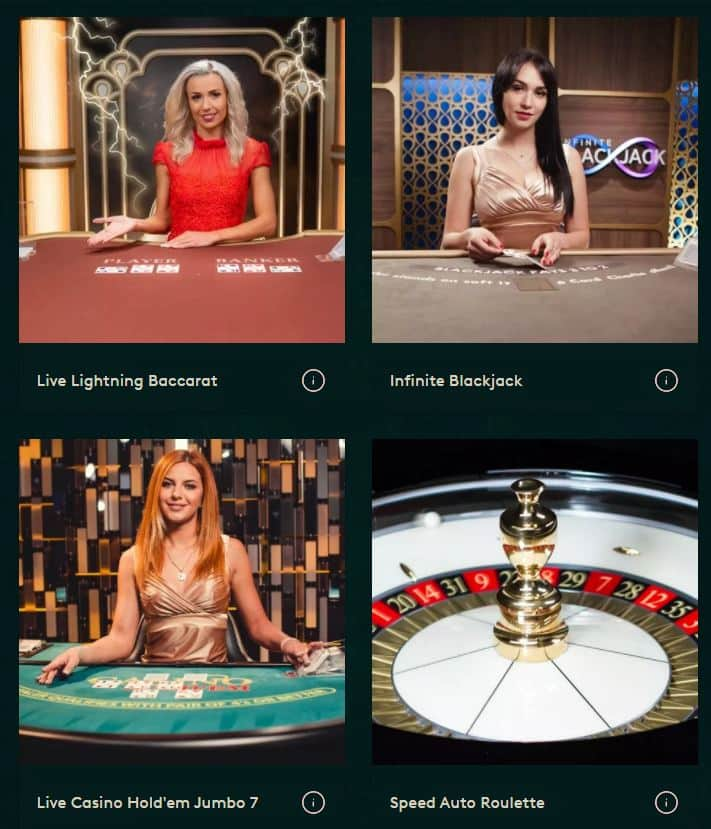 Live Casino Game Selection