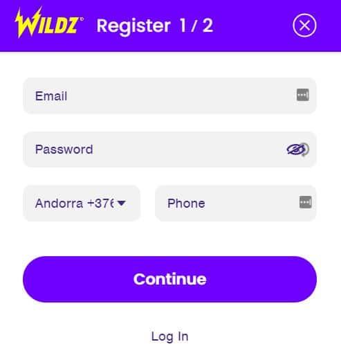 Wildz Casino Login