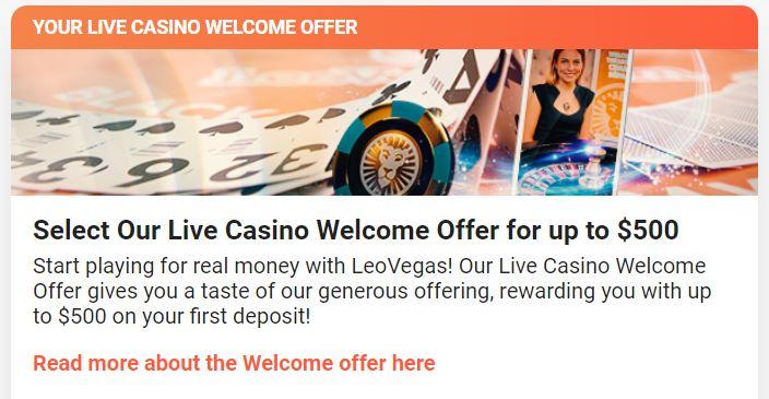 Leovegas Welcome Bonus