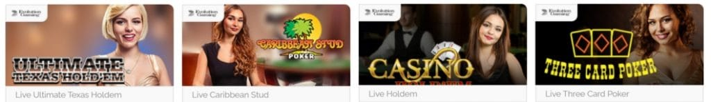 playzee live casino games