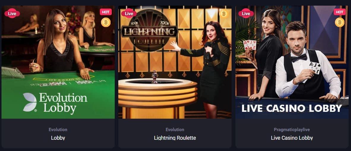 Woo Casino Live Games